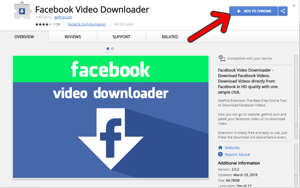 How to Download Facebook Videos Using Chrome Extension - Getfvid com