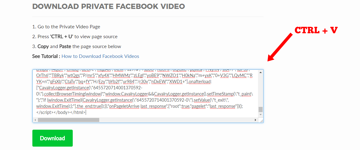 How to Download Facebook Private Videos